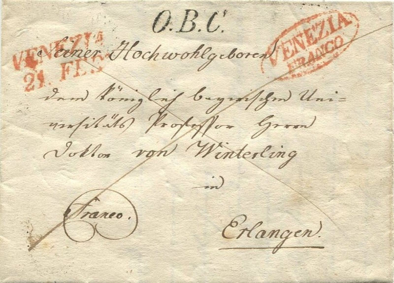 Der Postvertrag Österreich - Bayern von 1842 Venedi11
