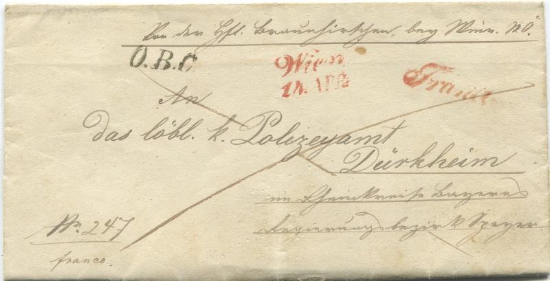 Der Postvertrag Österreich - Bayern von 1842 Wien-d10