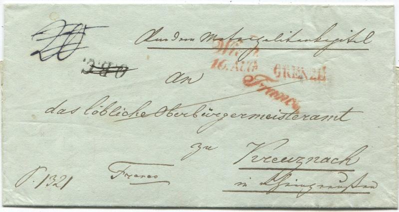 Der Postvertrag Österreich - Bayern von 1842 Wien-k10