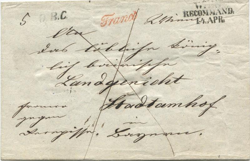 Der Postvertrag Österreich - Bayern von 1842 Wien-s10