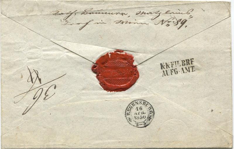 Der Postvertrag Österreich - Bayern von 1842 Wien-s11