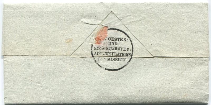 Die Thurn und Taxis Überrheinische Post / provisorische Verwaltung der besetzten Gebiete 1814 bis 1816 Worms-14