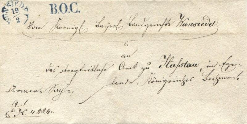 Der Postvertrag Österreich - Bayern von 1842 - Seite 2 Wunsie10