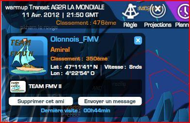 Warm-up Transat AG2R LA MONDIALE le 11/04/2012 à 16h00 GMT Capt1488