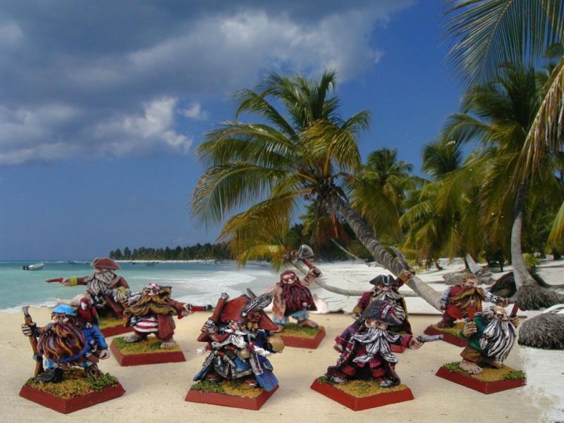 Armée de pirates nains Barbec10