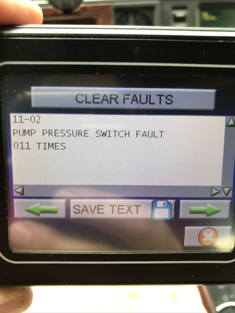 Pump Pressure Switch Fault - Problème Résolu!!  0a314010