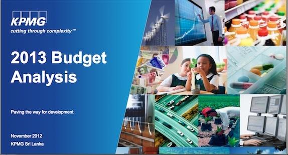 2013 Budget Analysis by KPMG Sri Lanka Screen12