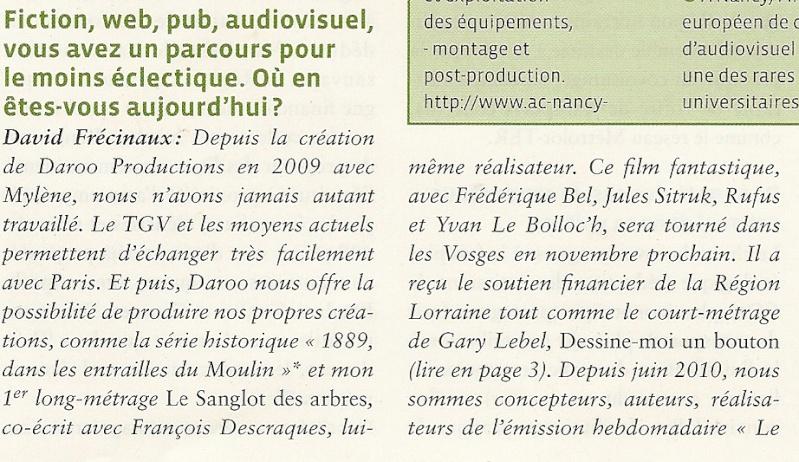 """[Film] """"Le Sanglot des Arbres"""" avec François Descraques (2011) - Page 2 Exclu_10"""