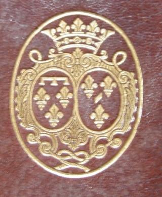 La signature et les armes (blason) de la princesse de Lamballe Orlaan14