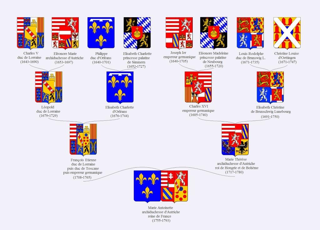 Généalogie, Héraldique, Armoiries, et Blasons de Marie-Antoinette Quarti12