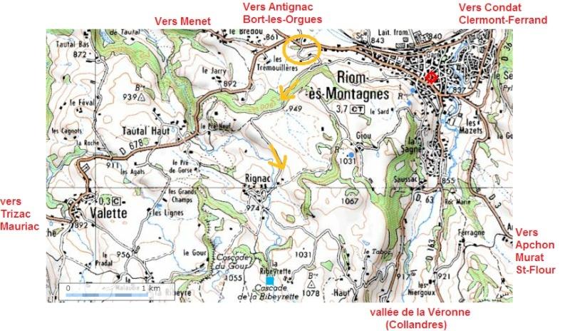 Cascade de la Ribeyrette (Riom-ès-Montagnes) Carte10