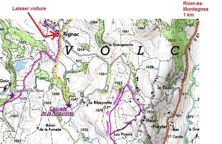 Cascade de la Ribeyrette (Riom-ès-Montagnes) Carte_10