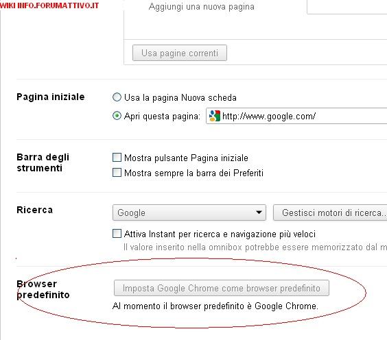 Come impostare Google Chrome come brower principale Googa_10
