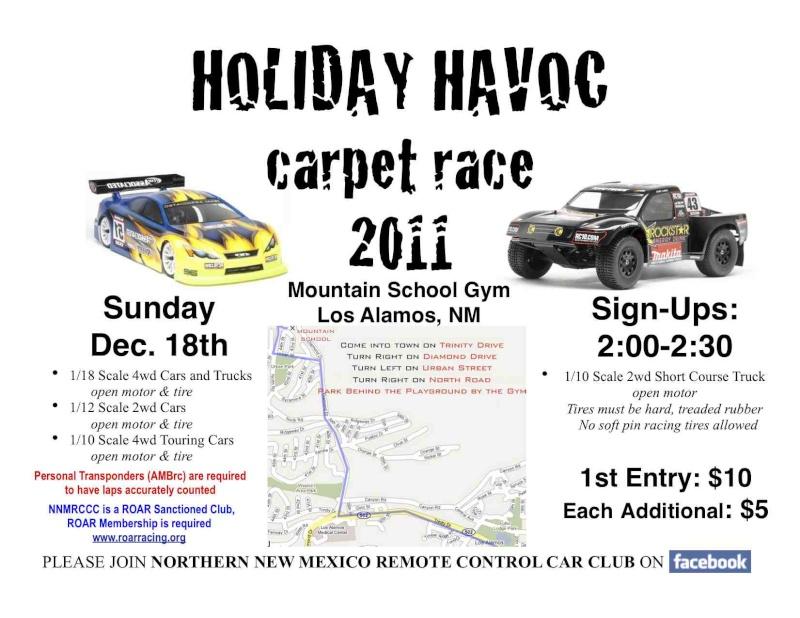 Holiday Havok Carpet Race in Los Alamos Holida11