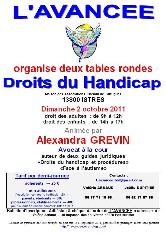 table ronde droit du handicap a istres le 02.10.2011 Handic10