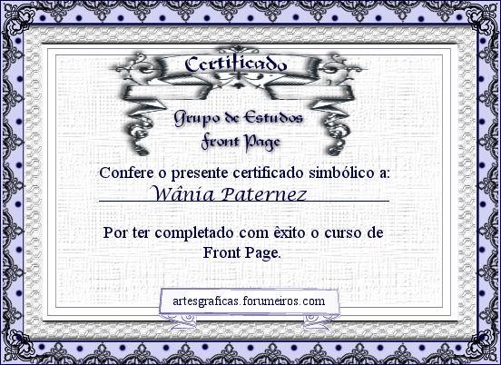 Certificados Wania10
