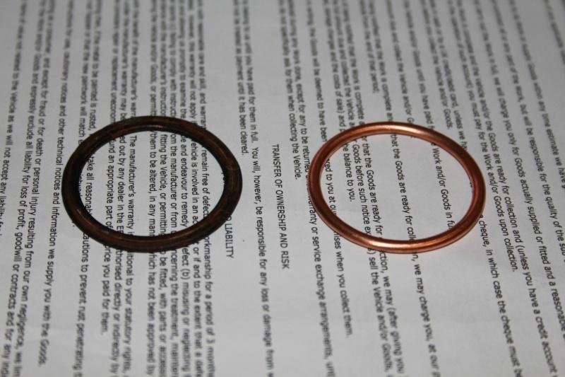 copper gaskets k100 exhaust flange Img_2431