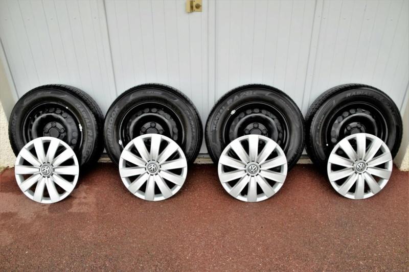 Vds 4 roues tôle avec enjoliveur 205/65 R 16C 107/105 T _dsc0016
