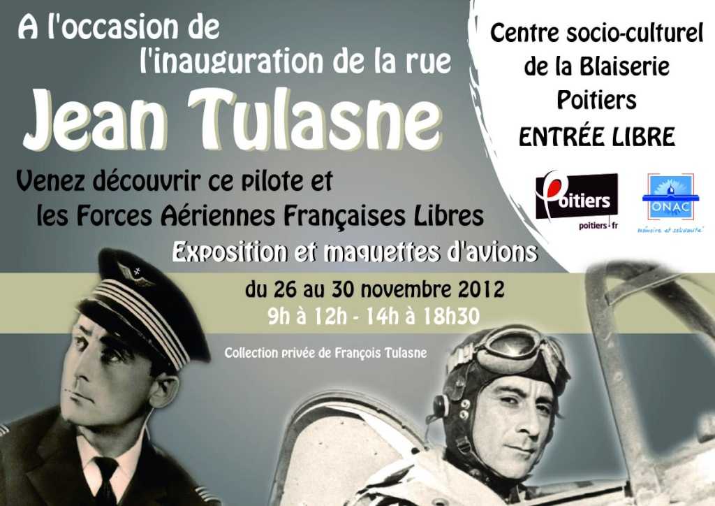 "Inauguration d'une rue "" Commandant Jean TULASNE "" Affich10"