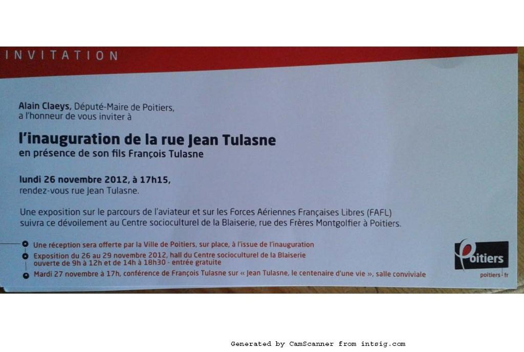 """Inauguration d'une rue """" Commandant Jean TULASNE """" Nouvea11"""