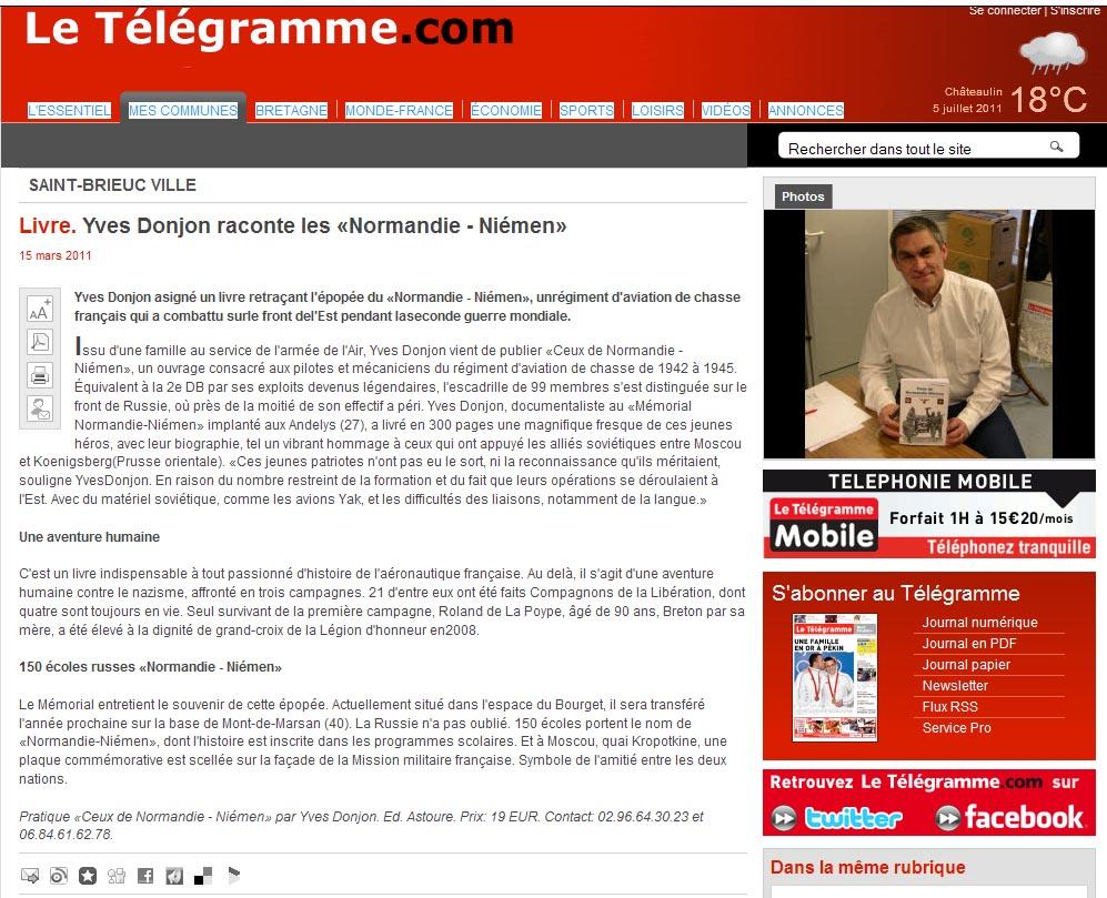 """""""Ceux du Normandie Niemen"""" version 2010 est disponible - Page 2 Yves10"""