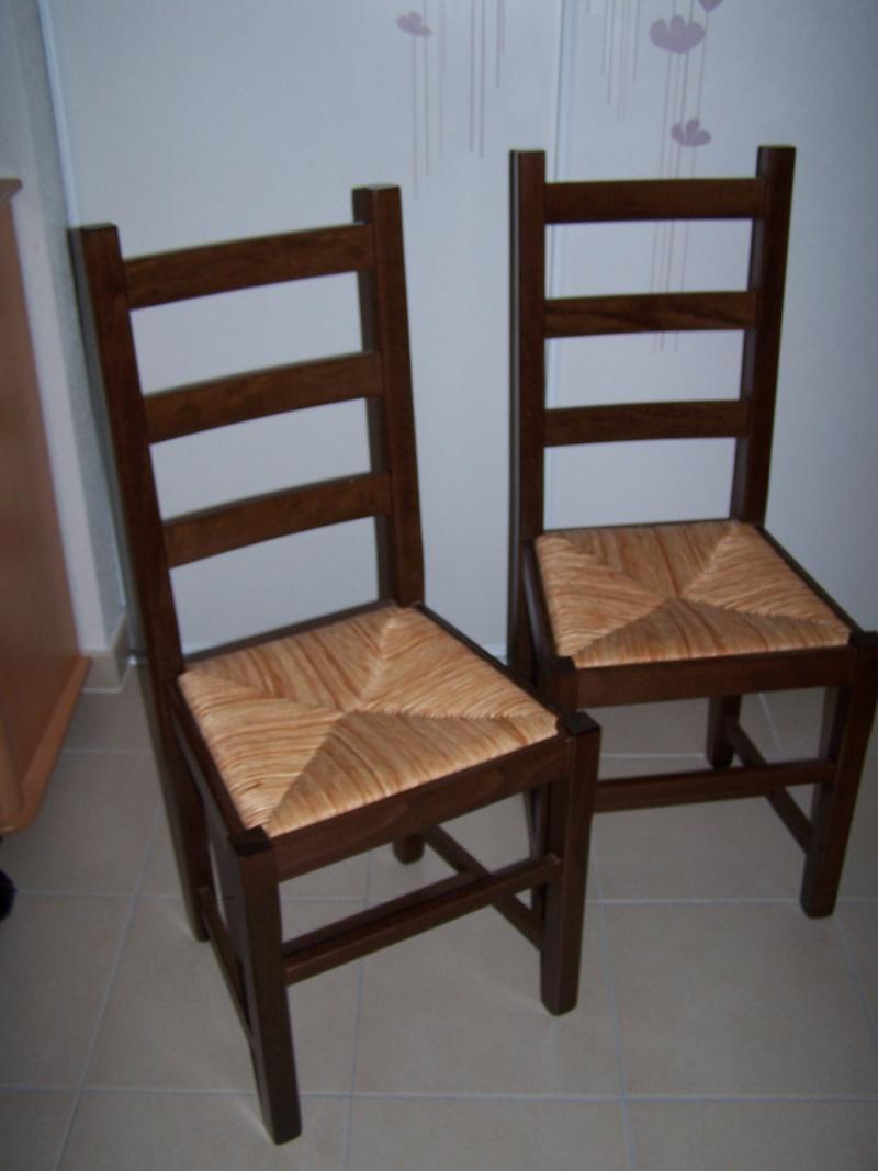 Chaises bois assise osier 100_5710