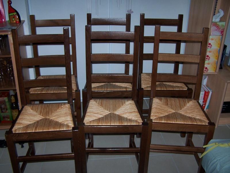 Chaises bois assise osier 100_5711