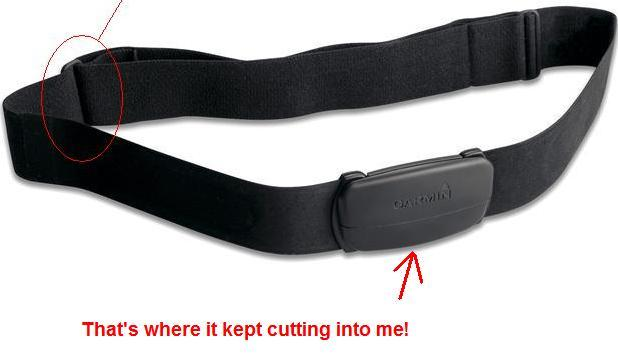"""I have cuts from the """"new & improved"""" HR mon from Garmin Strap10"""