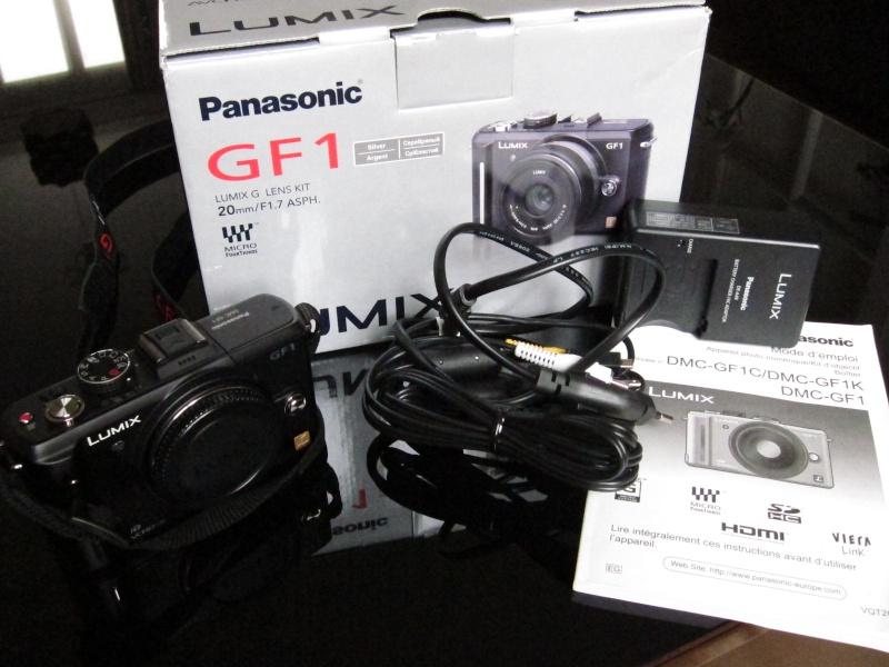 [VENDU] Panasonic DMC-GF1 NU Noir avec boite, [VENDU] Img_1224