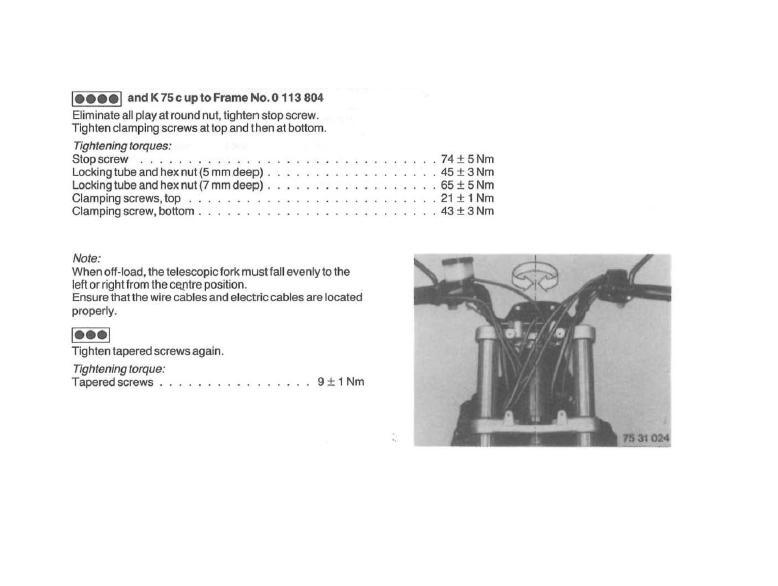 How to adjust steering head bearings? 2v10