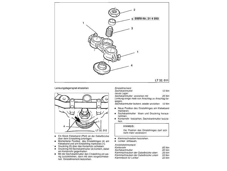 How to adjust steering head bearings? 4v10