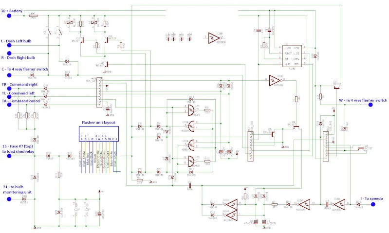 flasher relay circuit wiring diagram rh k100 forum com