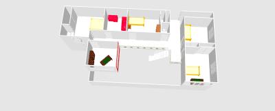 Renovation - organisation partie séjour/cuisine/salle à manger de 55m2 Clo06410