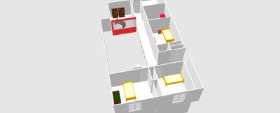 Renovation - organisation partie séjour/cuisine/salle à manger de 55m2 Clo06510
