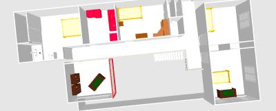 Renovation - organisation partie séjour/cuisine/salle à manger de 55m2 Clo06610