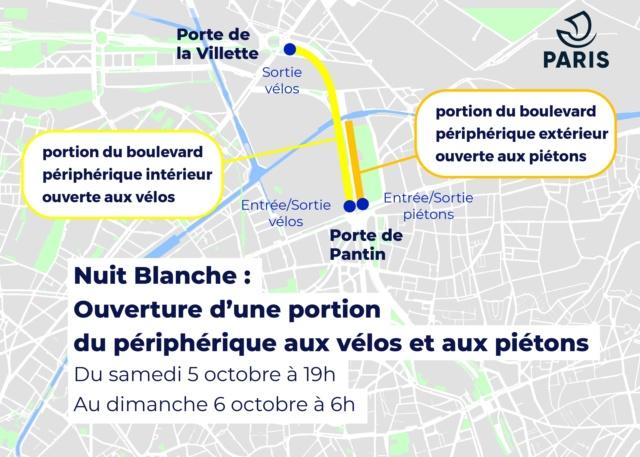 Nuit blanche: fermeture du périphérique porte de Bagnolet Carte_10