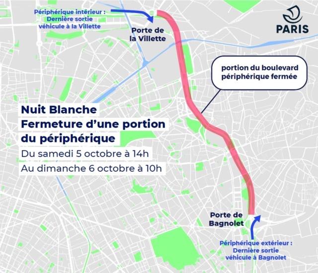 Nuit blanche: fermeture du périphérique porte de Bagnolet Fermet10