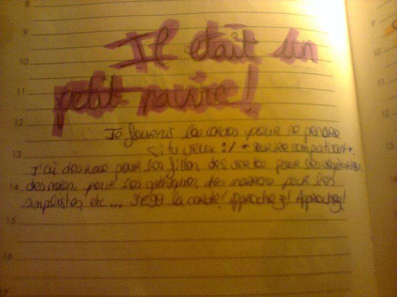 Partagez nous votre écriture! - Page 3 Photo039