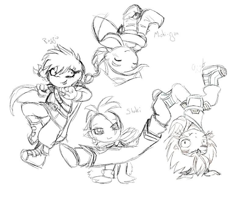 heuuu, je crois que ce sont mes dessins, de Moyo.... Dance_10