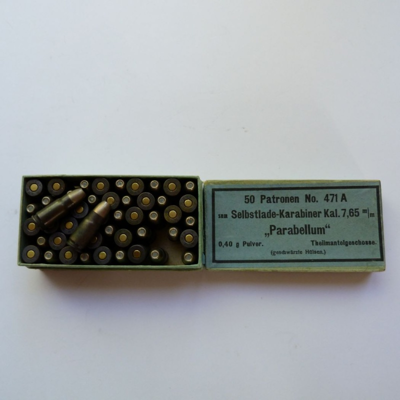 Carabine Luger modèle 1902 en 7,65 parabellum n° 24651, 8ème catégorie, en coffret. Boites11