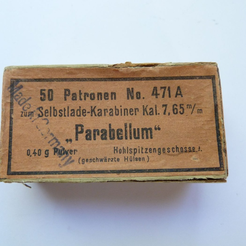 Carabine Luger modèle 1902 en 7,65 parabellum n° 24651, 8ème catégorie, en coffret. Boites12