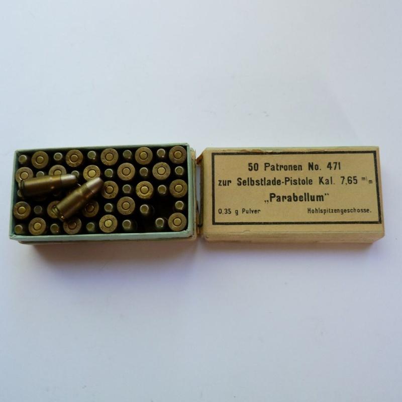 Carabine Luger modèle 1902 en 7,65 parabellum n° 24651, 8ème catégorie, en coffret. Boites13