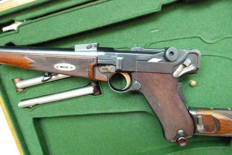 Carabine Luger modèle 1902 en 7,65 parabellum n° 24651, 8ème catégorie, en coffret. Carabi24