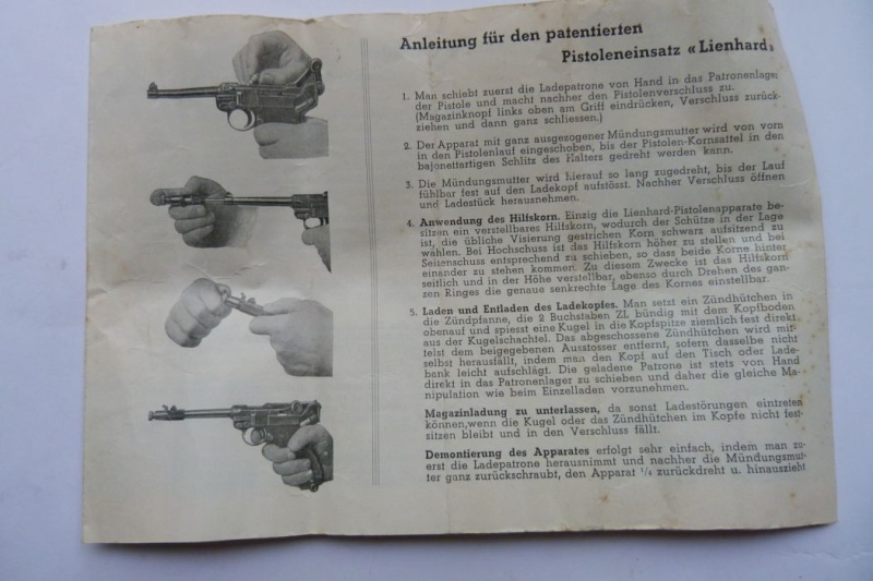 """Conversion suisse """"Lienhard"""" pour pistolet Parabellum. Conver18"""