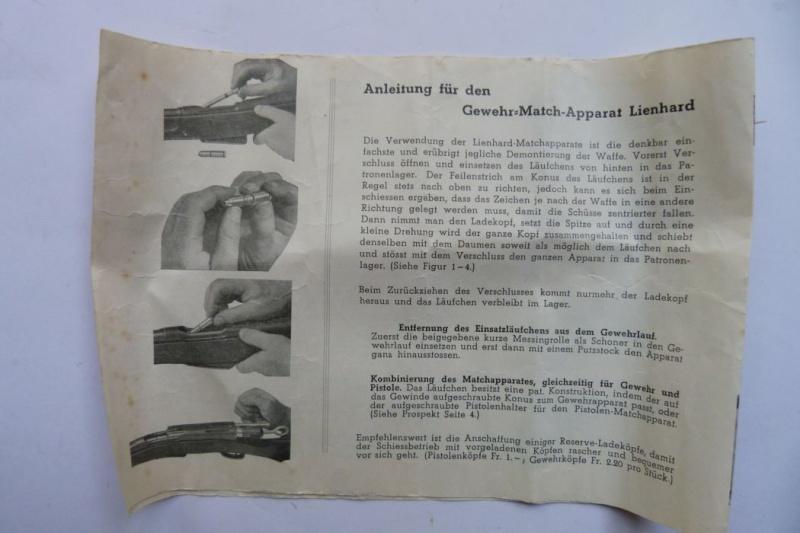 """Conversion suisse """"Lienhard"""" pour pistolet Parabellum. Conver20"""