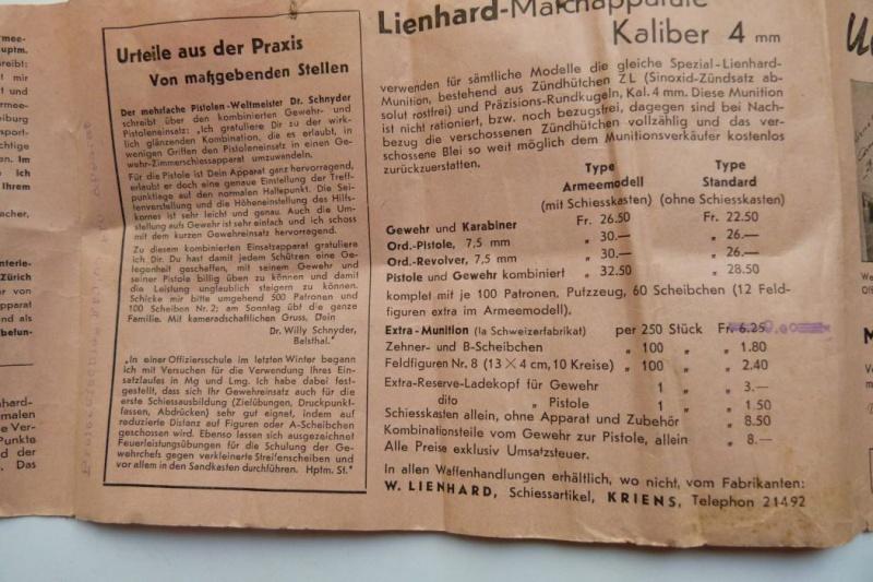 """Conversion suisse """"Lienhard"""" pour pistolet Parabellum. Conver26"""