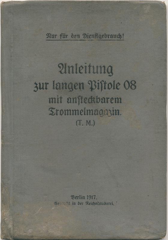 La P-Kasten : accessoire du luger dit d'artillerie (ou LP14) et du MP18/1 - Page 2 Manuel11
