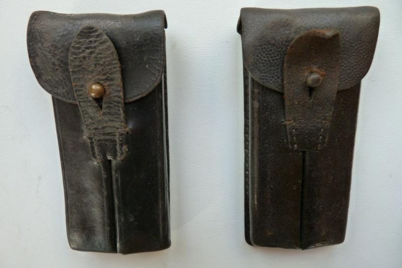 Les pochettes pour loger les chargeurs de rechange de Luger. Pouch_10