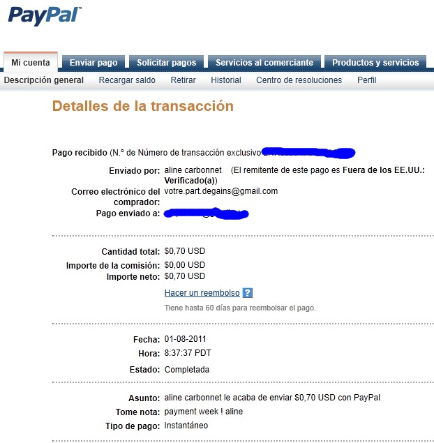 My third payment received. Aline_14