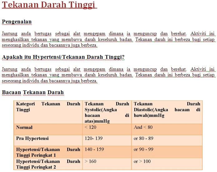 Kaunter Pemeriksaan Tekanan Darah Kakitangan JPS Sabah 1114